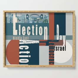 Election Day  2 Serving Tray