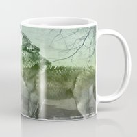 wolves Mugs featuring Wolves by YM_Art by Yv✿n / aka Yanieck Mariani