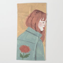 Chrysanthemum Jacket Beach Towel