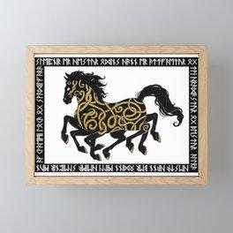 Sleipnir - Norse Mythology Framed Mini Art Print