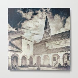 French Augustinian convent building of Cremieu in Isere retro styled Metal Print