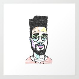 The Rapper-a-day Project | Day 10: Posdnuos Art Print