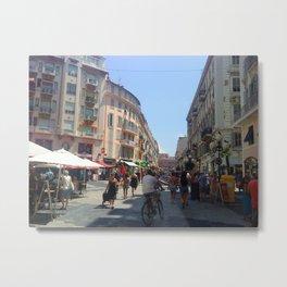 Nice Street View Metal Print