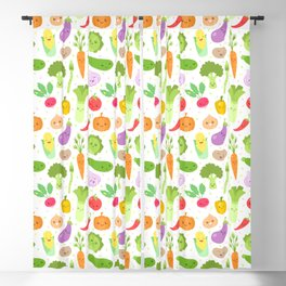 Happy Veggies Blackout Curtain