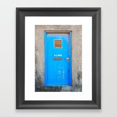 The Blue Door Framed Art Print