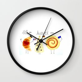 eat and travel Wall Clock