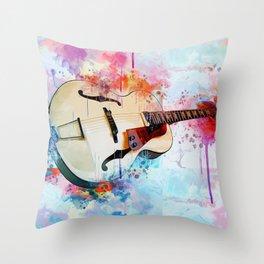 Electric Guitar Throw Pillow