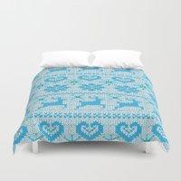 knitting Duvet Covers featuring Scandinavian Knitting by Vannina