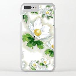 Alpine Flowers Anemones Clear iPhone Case