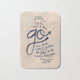 Go Into All The World Bath Mat