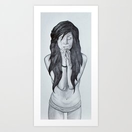it's too late to pray... Art Print