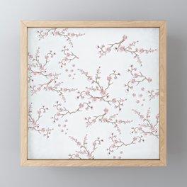 SAKURA LOVE - GRUNGE WHITE Framed Mini Art Print