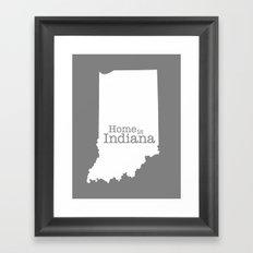 Home is Indiana state outline illustration Framed Art Print
