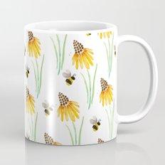 Rudbeckia Cone Flowers & Bumble Bees Mug