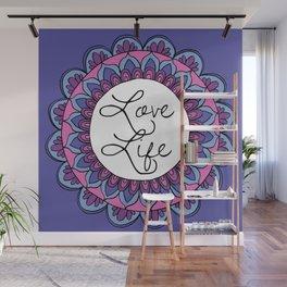 Love Life Mandala Ultraviolet Wall Mural