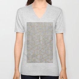 Concrete Hexagonal Pattern Unisex V-Neck