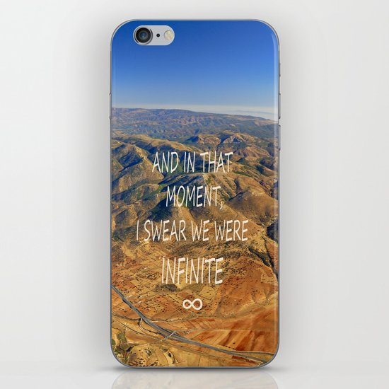 And in that moment, I swear we were infinite ∞. Aerial photo iPhone & iPod Skin