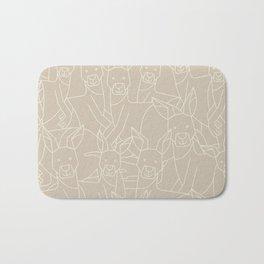Minimalist Kangaroo Bath Mat