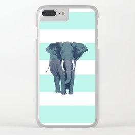 The Green Elephant Clear iPhone Case