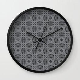 Sharkskin Diamond Floral Wall Clock