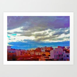 When the afternoon falls on Alicante Art Print