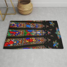 INRI Stained Glass Rug