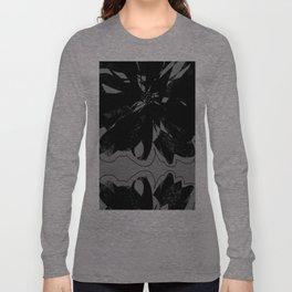 Black Floral Long Sleeve T-shirt