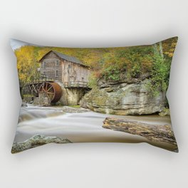 USA Babcock State Park Nature Autumn Waterfalls park Forests Seasons Parks forest Rectangular Pillow