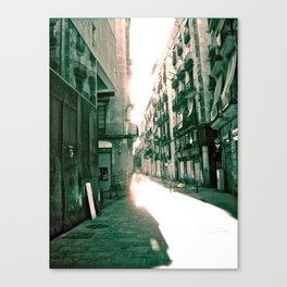 "Monday 5 November 2012: ""...your door at daylight..."" Canvas Print"