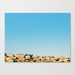 flight over hebron Canvas Print