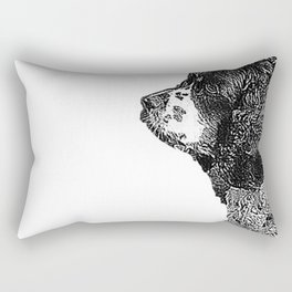 Buddy the Tri Colored Cocker Spaniel Sketch Rectangular Pillow