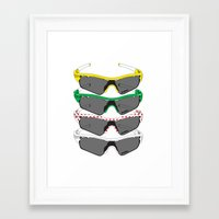 tour de france Framed Art Prints featuring Tour de France Glasses by Pedlin