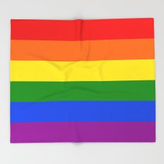Rainbow Stripes Throw Blanket