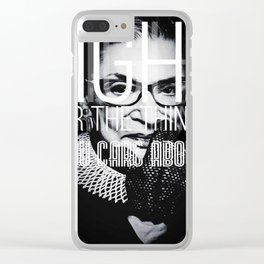 Ruth Bader Gingsburg Clear iPhone Case