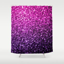 Purple Pink Ombre glitter sparkles Shower Curtain