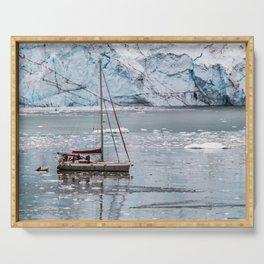 Glacier Sailing Serving Tray