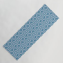 Greek Key - Turquoise Yoga Mat