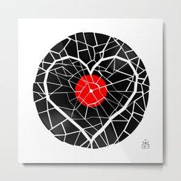 Broken Record , Broken Heart Metal Print