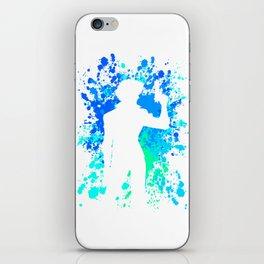 Anime Paint Splater Inspired Shirt iPhone Skin