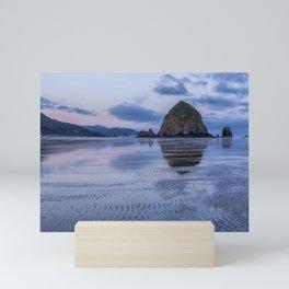 Daybreak at Haystack Rock Mini Art Print