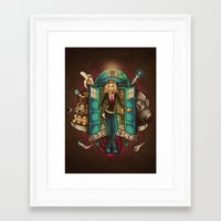 bad wolf Framed Art Prints featuring Bad Wolf by Omega Man 5000