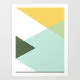 Geometrics - citrus & concrete Art Print
