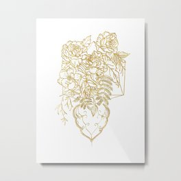 To Love is to Bury - Gold Metal Print