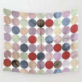 Winter Polka Dots Wall Tapestry