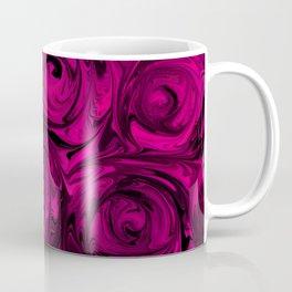 Berry Fuchsia Roses Coffee Mug