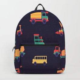 Car Pattern Vector Backpack