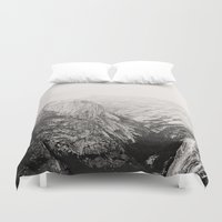 yosemite Duvet Covers featuring Yosemite Beauty (b&w)  by Tara Yarte