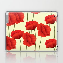 Red flowers #society6 Laptop & iPad Skin
