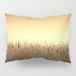 Bed Of Reeds In Golden Hour Pillow Sham