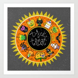 Trick or Treat in the Round Art Print
